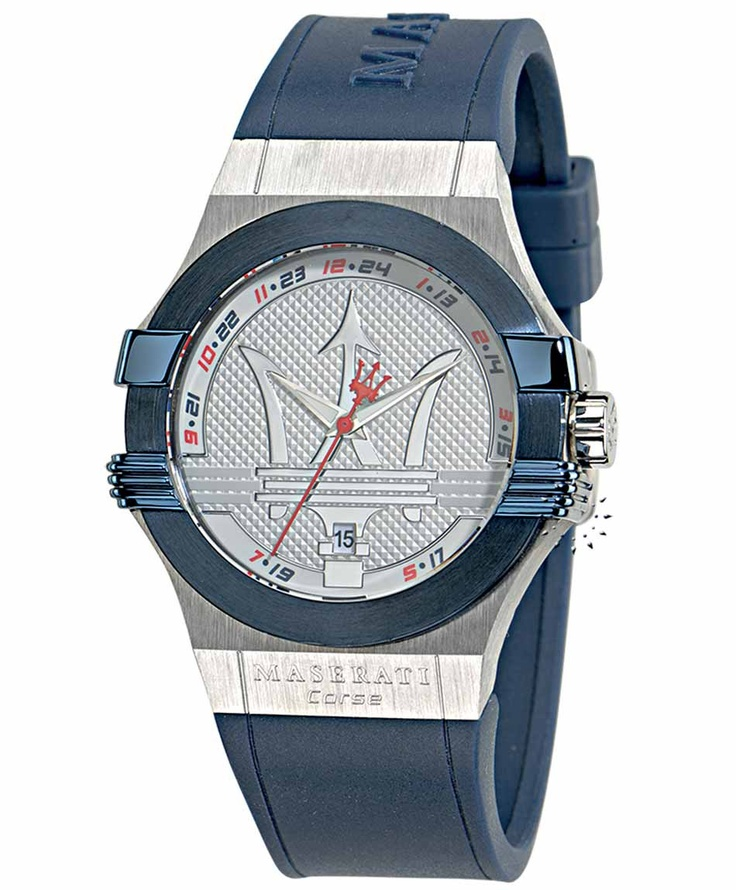 MASERATI Potenza Blue Rubber Strap Μοντέλο: R8851108003 Τιμή: 205€ http://www.oroloi.gr/product_info.php?products_id=33446