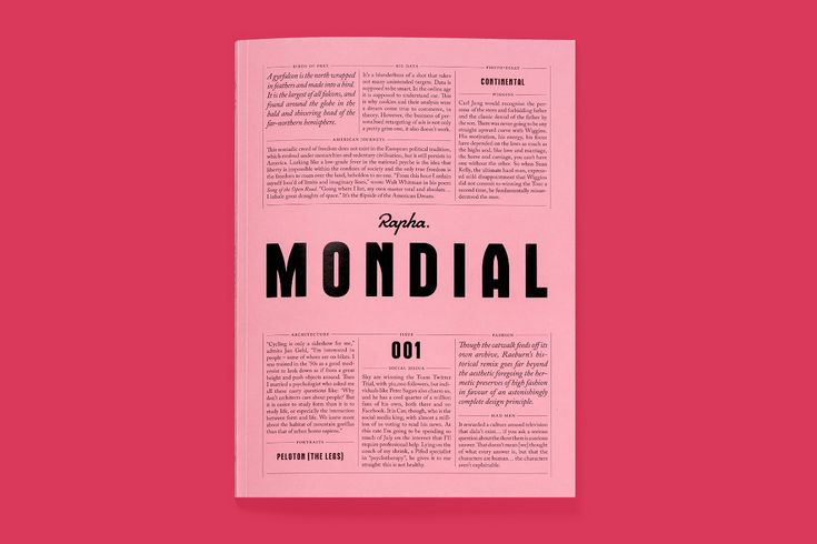 Mondial: a beautiful new brand magazine from Rapha