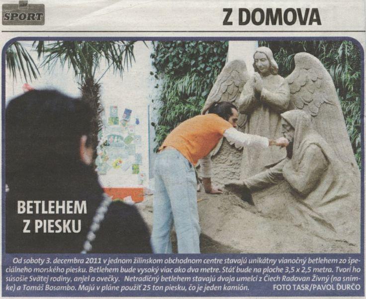 ŠPORT - Pieskové sochy, Žilina.