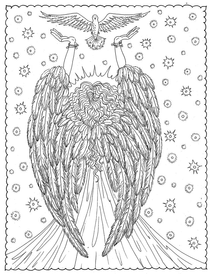 Angel Of Liberty From The Gallery Zen Colouring For AdultsAdult Coloring PagesColoring
