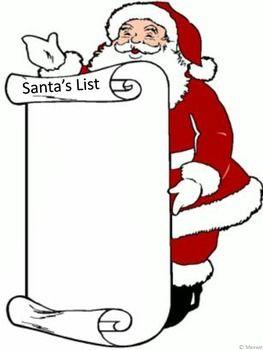 Freebie! CHRISTMAS SANTA'S LIST