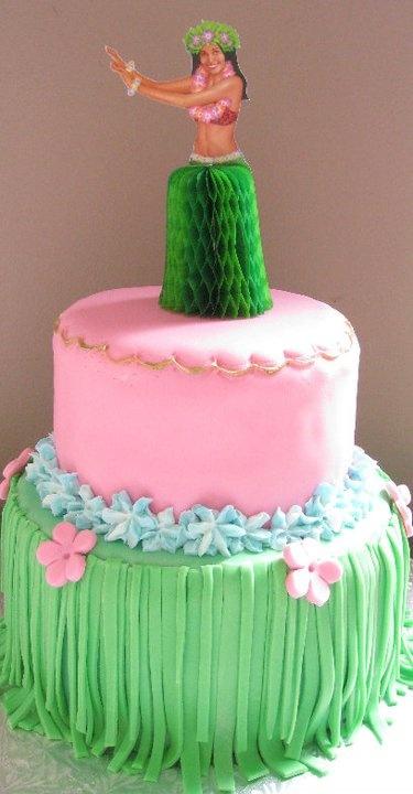 Grass skirt cake — 8
