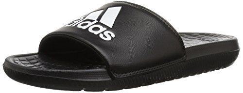 sports shoes 5d75d a9184 adidas Mens Voloomix Slide Sandal BlackWhiteBlack 11 M US