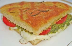 Gluten Free Panini (Rustic  Bread) Focaccia and Pesto