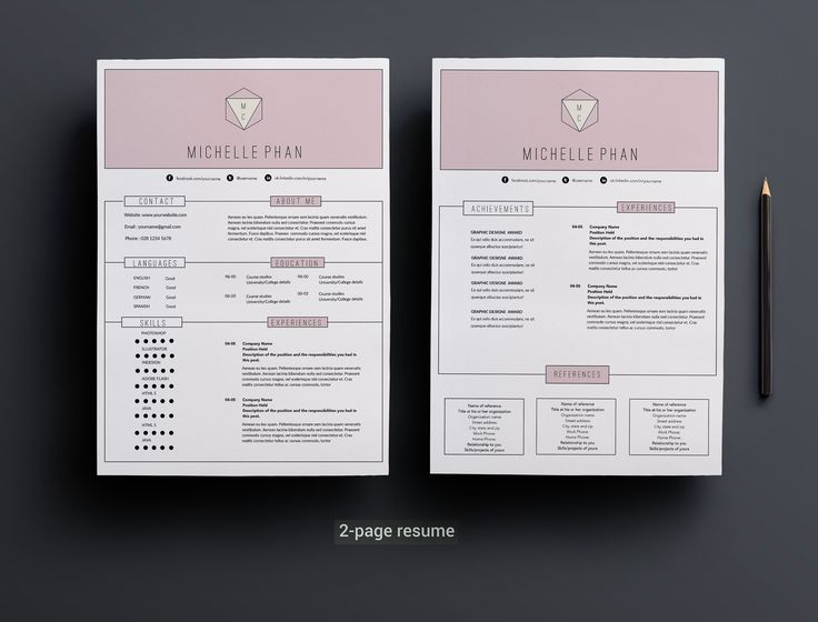 17 best Chic , modern resume \/ CV templates images on Pinterest - modern resume sample