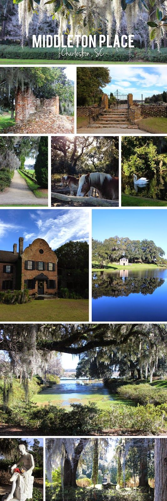While my parents were in town this Christmas , we took a trip out to Middleton Place Plantation . Middleton Place is a National Historic L...