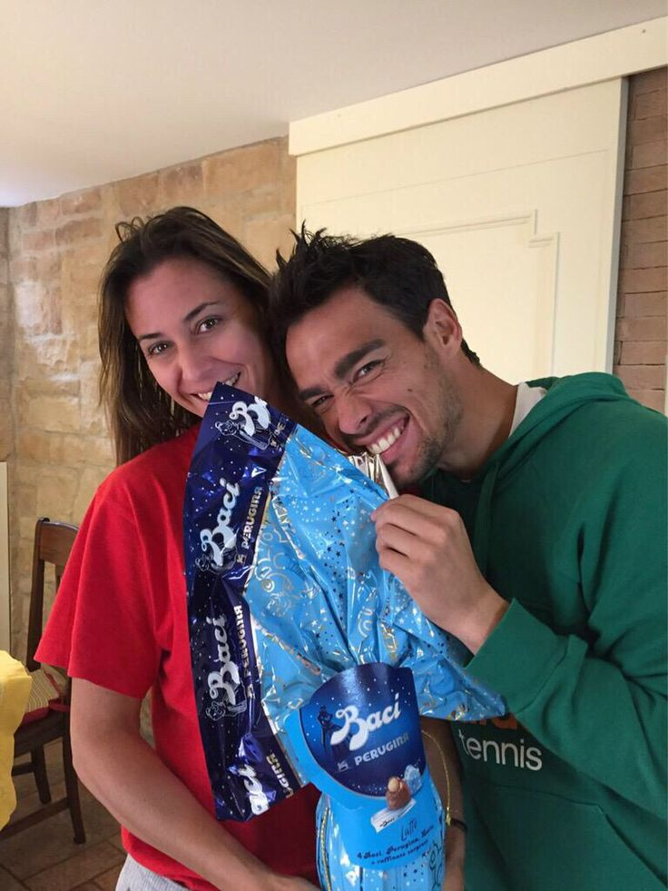 Happy Easter from Flavia Pennetta and Mauro Fognini
