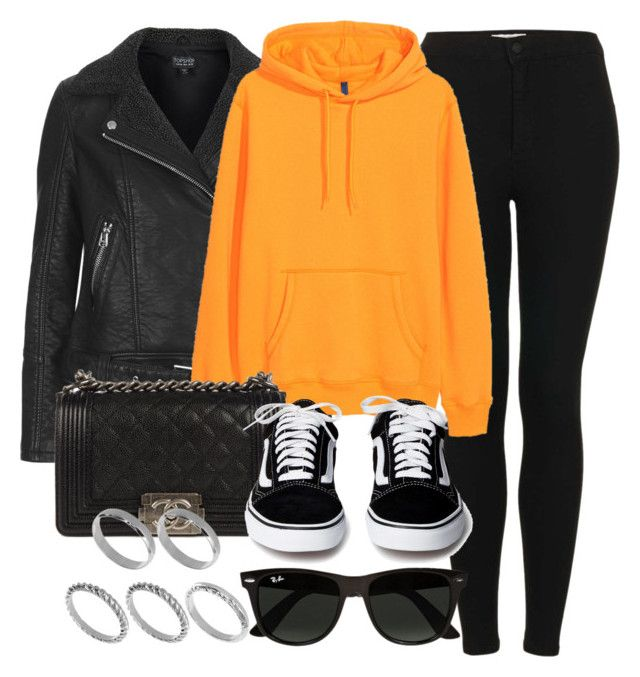 """#14185"" by vany-alvarado ❤ liked on Polyvore featuring Topshop, H&M, Chanel, Ray-Ban and ASOS"