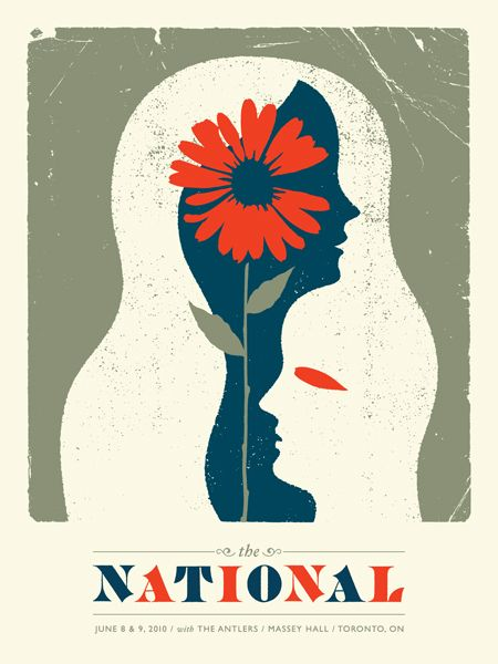 The National concert poster. Doublenaut. Great design.
