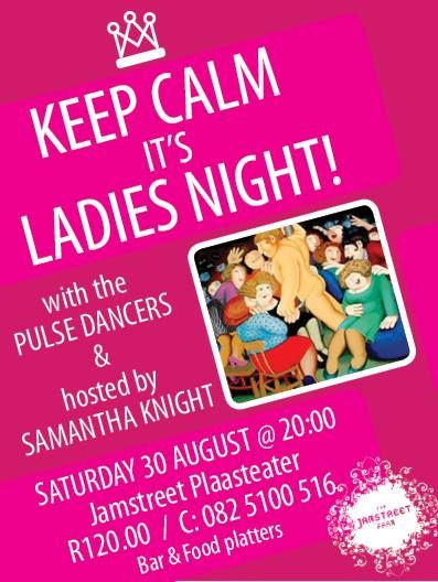 A fun filled evening ... with lots of surprises! Please diarise the date - Saturday 30 August! #ladiesnight #jamstreet #oudtshoorn