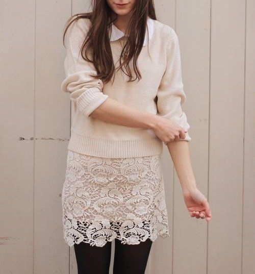 :: Lace Skirt for Winter ::