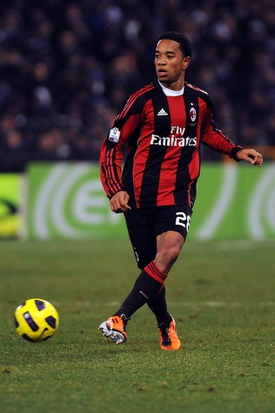 Urby Vitorrio Diego Emanuelson (born 16 June 1986 in Amsterdam) is a Dutch professional footballer of Surinamese descent, who plays for Serie A club Milan and for the Dutch National Team.     He plays as either a left midfielder or left back. He spent most of his career at Ajax playing as a left back, before being played more as a left midfielder by manager Martin Jol, but used by Massimiliano Allegri as an attacking midfielder.