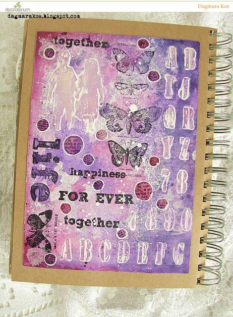 Dagmara Kos : Together art journal page with DecoArt Media mixed media