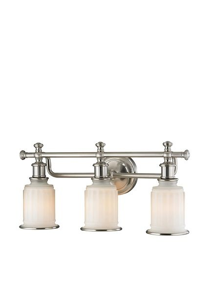 Artistic Lighting Acadia Collection 3 Light Led Bath Bar Brushed Nickel