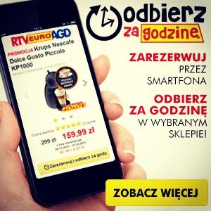 Dla smartfonowcow! Zamów przez telefon odbierz w wybranym sklepie już za godzine! Brawo rtv euro agd!