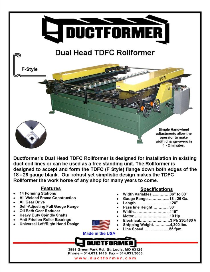 Ductformer\u0027s CR12-TDFC Dual Head Ductformer CR12-TDFC Dual Head - construction change order form