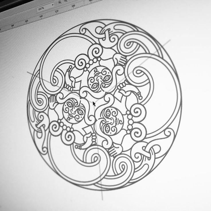 @celticartlogo Three Mermaids (vector, work process) Три русалки - вектор-процесс, из серии странных штук на тему. 😋 #celtic #celticart #celticknot #ornament #орнамент #arzarz #ирландский #doodle #art #siberia #irish #celticdesign #design #knotwork #linedrawing #linework #lineart #workprocess #design #vectorgraphic #vector #трикветр #trikvetra #coreldraw  #screenshot #скриншот #process #viking  #tattoo #русалка #mermaid