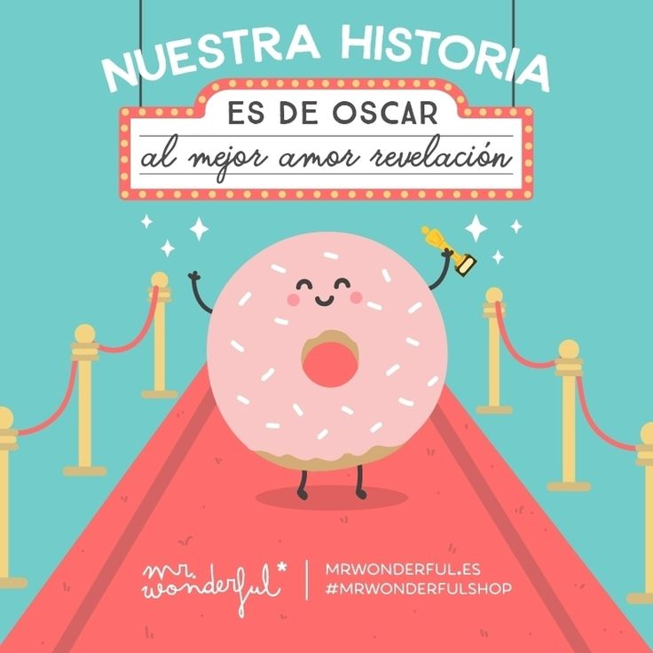 ¡Sois una pareja de premio! Our story deserves an Oscar for best new love. You are a winning couple! #mrwonderfulshop #quotes