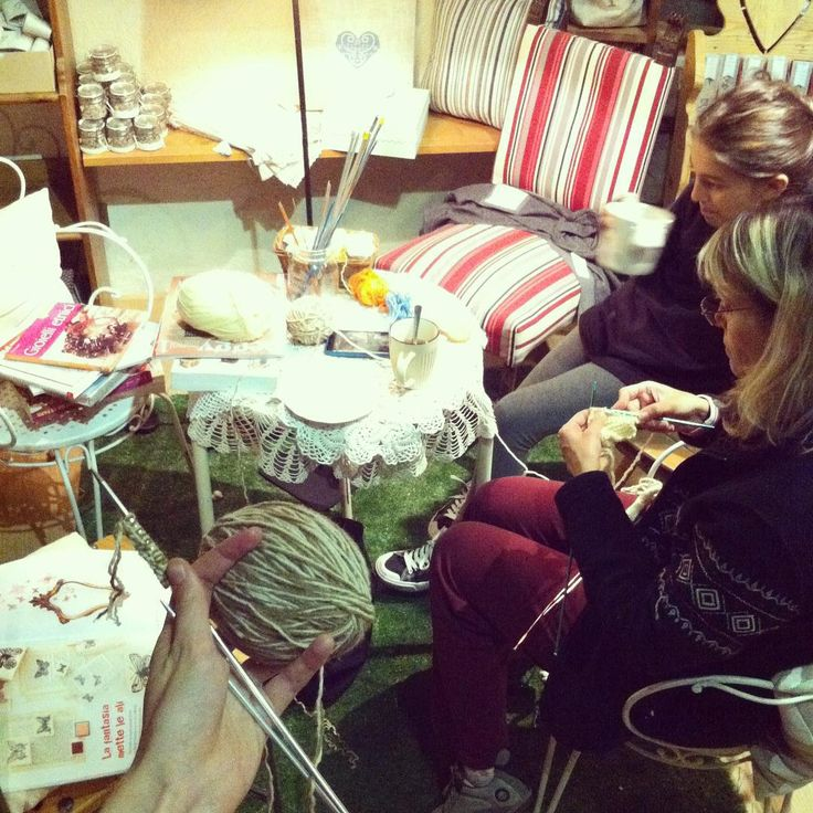 Knitting night in our store