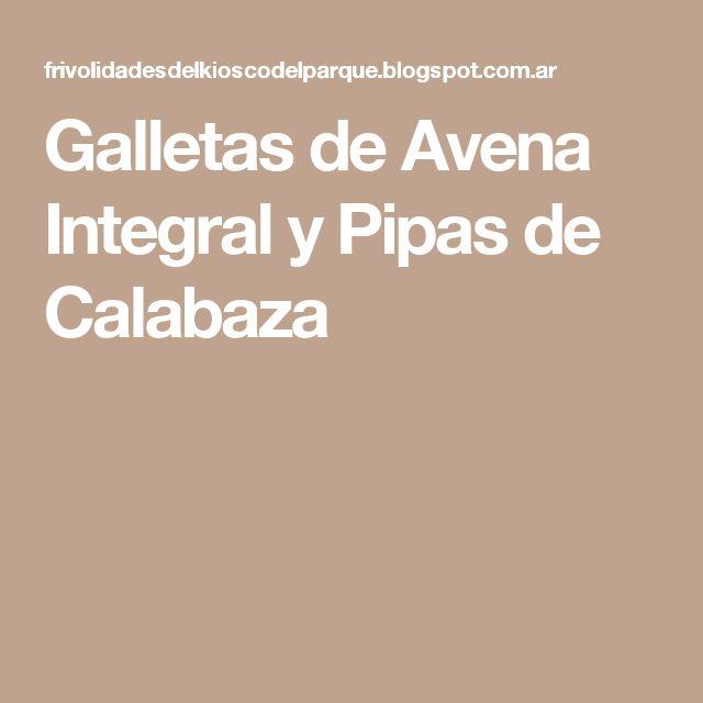 Galletas de Avena Integral y Pipas de Calabaza