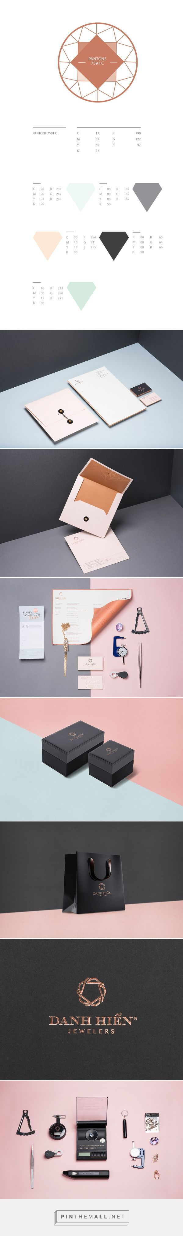 Branding and packaging for DANH HIEN JEWELERS  on Behance curated by Packaging Diva PD. Company specializes in handmade diamond jewelry, working as a family tradition.