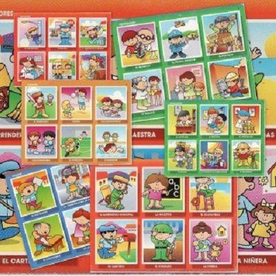 Recursos educativos: Loto-Juego de Oficios y profesiones Hemos encontrado estas fichas para crear un juego divertido para aprender los oficios y profesion