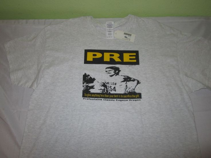 New PRE Steve Prefontaine Graphic  T Shirt  Sz XL - Gray - Eugene Classic -  NWT #Gildan #GraphicTee