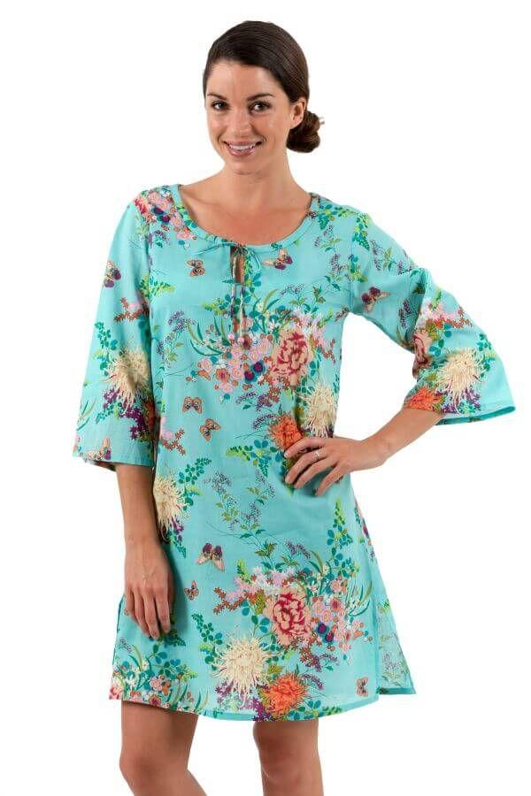 Spirituelle Cotton Tunic Dress - Rose Bloom