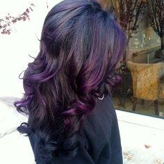 Excellent 1000 Ideas About Dark Purple Highlights On Pinterest Purple Hairstyles For Women Draintrainus