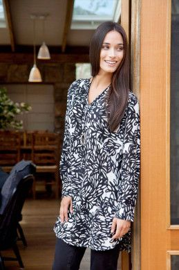 that bird label Tallulah LS Tunic - Womens Knee Length Dresses - Birdsnest Clothing Online