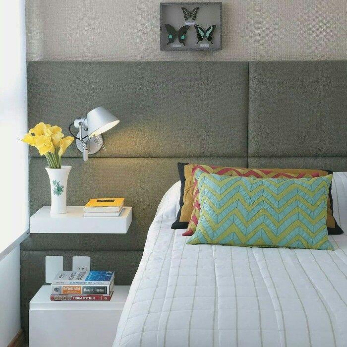 Painel acolchoado para cama box