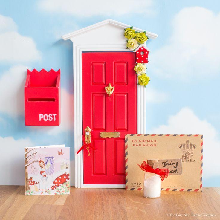 personalised red Fairy Door, uk