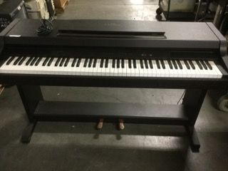 YAMAHA CLAVINOVA PIANO, BLACK, 54X21X38 CONDITION WORN