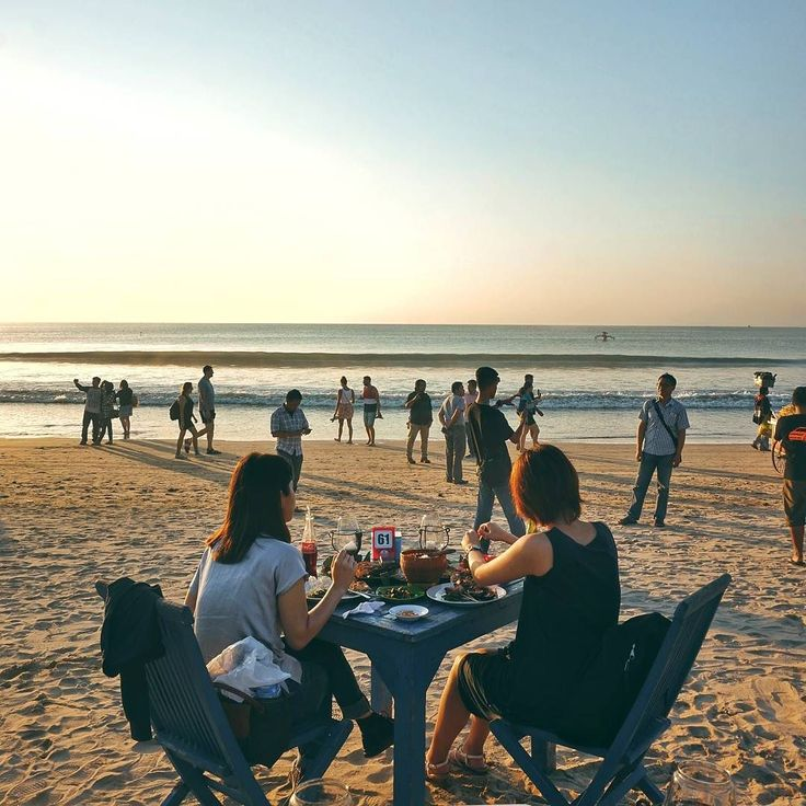 """#Bali. Dear friends come read our new blog post: """"Sunset Seafood Dinner at @TebaCafe.Jimbaran"""" at foodcious.com  Link available at  @foodcious"""