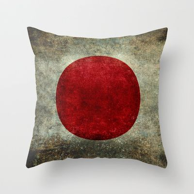 The national flag of Japan Throw Pillow by LonestarDesigns2020 - Flags Designs + - $20.00