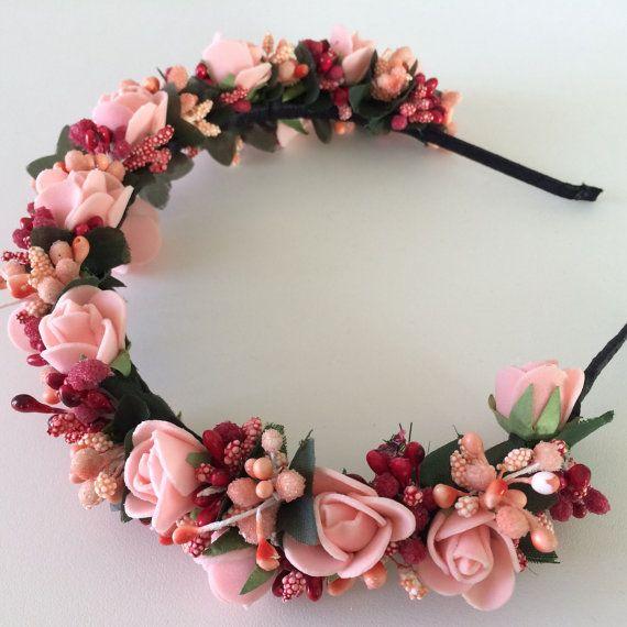 Обруч венок из цветов украшение для волос by MadyHandy on Etsy