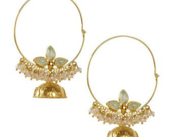 106 best Jhumkas images on Pinterest | Indian jewelry, Jewellery ...
