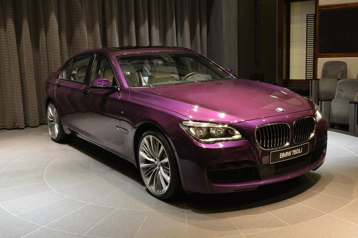 This 2015 BMW 760Li was painted in Twilight Purple and the cabin received the highly-exclusive BMW Individual Opal White Merino.