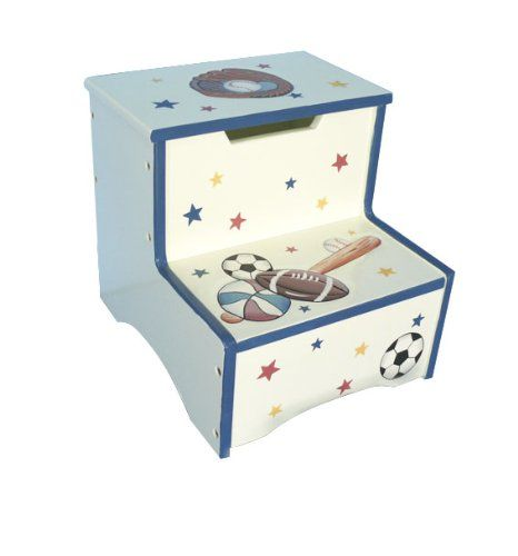 Teamson Kids - All Star Game Step Stool. Safe, Sturdy & Wood with Lead Free Paints - CPSIA Compliant. Carefully Packaged Unique Hand Painted Hand Carved Design by Skilled Craftsman. Suitable for Kids Bedroom and Playroom to develop Imagination and Creativity with Whimsical Pieces. Easy Assembly; Best Gift for Kids Birthday; Christmas Gift; Baby Shower & many happy moments. Safe, Sturdy & Eco-Friendly Wood with Lead Free Paints - CPSIA Compliant. Quick and easy assembly. Friendly Customer...