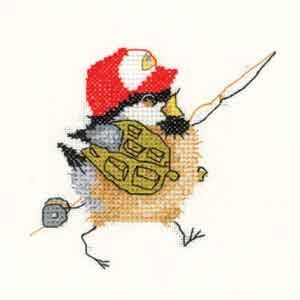 Fisherman Chick - Chickadees Cross Stitch Kit by Heritage Crafts