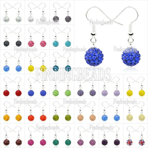 1Pair-Disco-Ball-Crystal-Rhinestone-Friendship-Shamballa-Dangel-Earring-Pendants