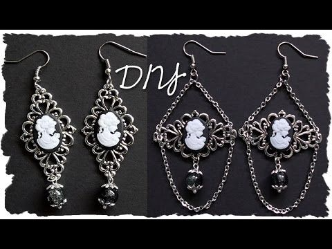 Tutorial: Orecchini Pendenti Eleganti ★ Gioielli semplici Vintage ★ DIY Earrings - YouTube