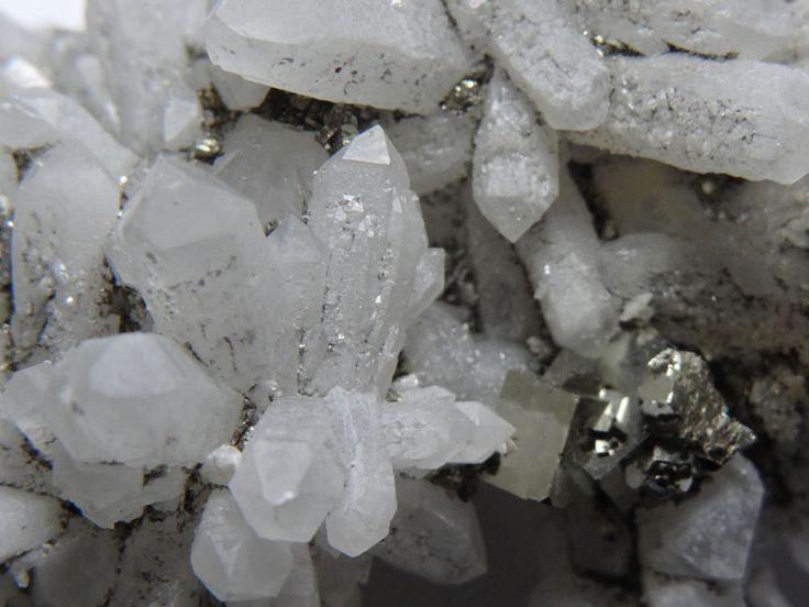 Quartz Crystals on Pyrite Matrix
