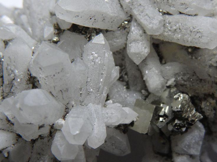 Quartz Crystals on Pyrite Matrix