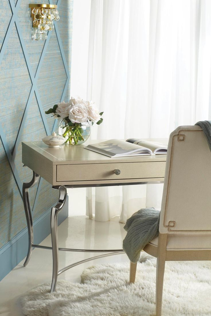 vallone design elegant office. the savoy place desk and chair are super soft pretty pieces from vallone design elegant office e
