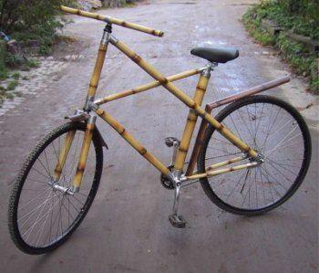 Cualquier material vale para hacer una bici. Pedalear es lo importante, y el fin justifica los medios
