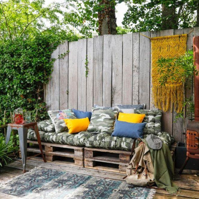 Coussin palette camouflage pour salon de jardin ou canapé ...
