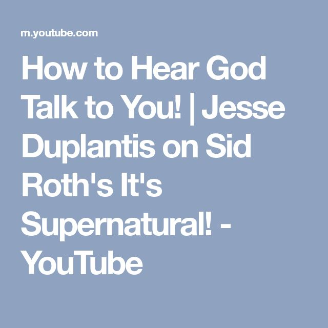 How to Hear God Talk to You!   Jesse Duplantis on Sid Roth's It's Supernatural! - YouTube