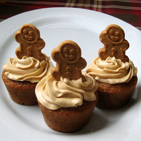 Gingerbread cupcakes   1 box spice cake mix 3 eggs 1/3 cup molasses 1/3 cup oil 1/2 cup milk  Mix together cake mix, eggs, molasses, oil and milk.      Pour into paper liners and fill 3/4 full.  (I did 18 cupcakes)      Bake at 350 degrees for 15-18 minutes  Frosting 1/2 cup butter 8 ounces cream cheese, softened 1 cup packed light brown sugar (make sure it is fresh)