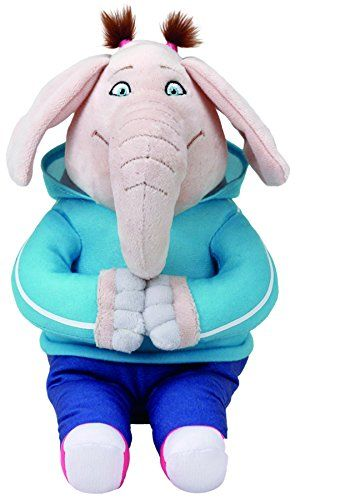 Ty Beanie Babies 41231 Sing Meena the Elephant  Ty plush from the movie Sing!  Plush stuffed animal collectible toy with Ty heart shaped tags